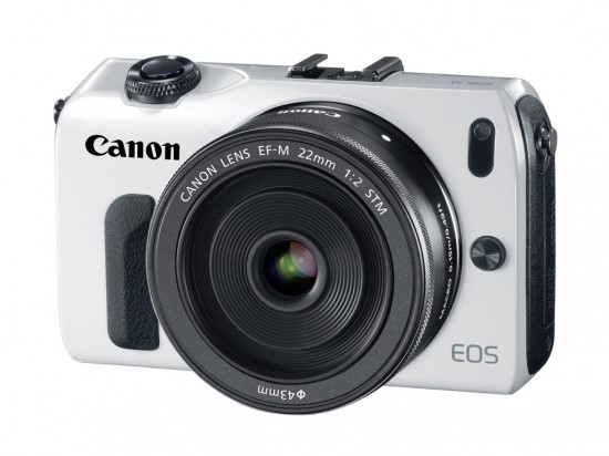 EOS M front side white