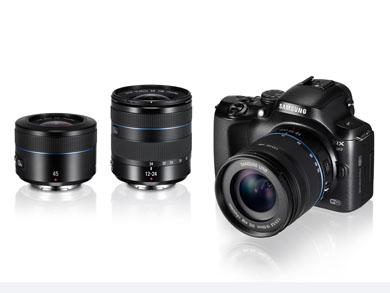 main NX20 with 18 55mm 12 24mm and 45mm main