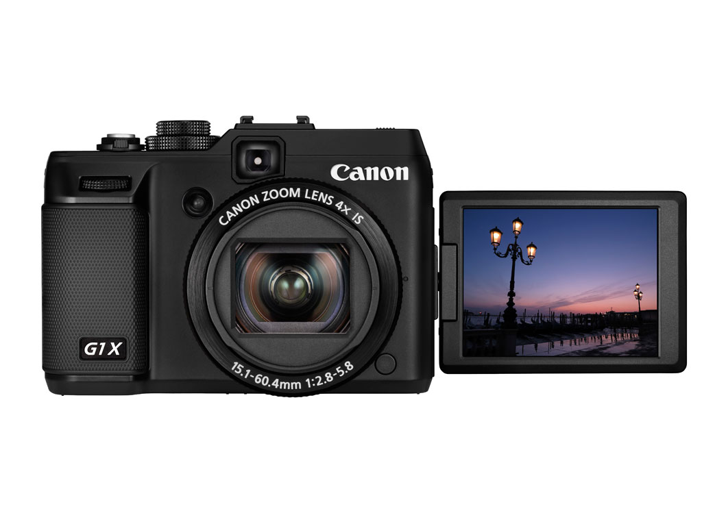 Canon PowerShot G1 X lcd front